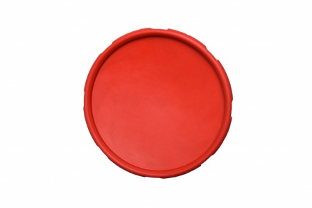 RUB-DISC-RED-15CM